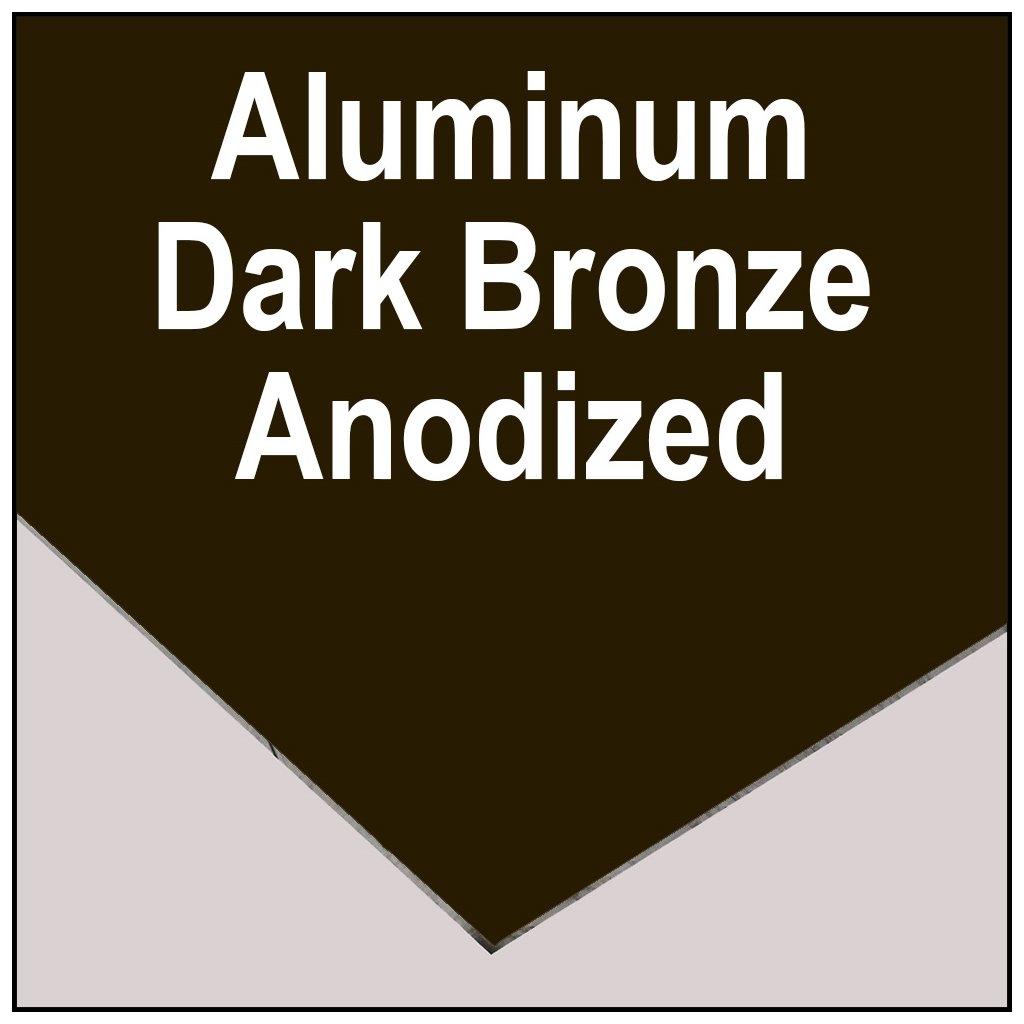 """.063 Dark Bronze Anodized Aluminum Sheet 5005 10/"""" x 18/"""""""