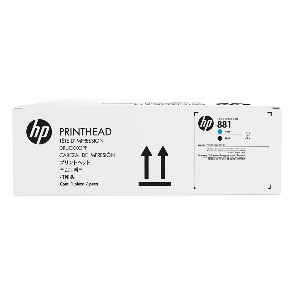 HP CR328A,,HP INC ,,HP 881 CYAN/BLACK PRINTHEAD,Regional Supply