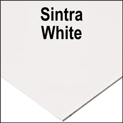 SINTRA PVC 1mm x 48in x 96in WHITE