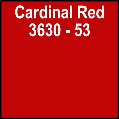 48in 3630-53 CARDINAL RED Translucent 3M