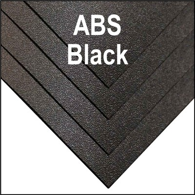 ABS HAIR CELL 1-SIDED .118x48x96 BLACK