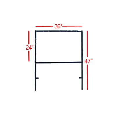 SIGN STAKE 48in D/FACE BLK 24x36 DSF06