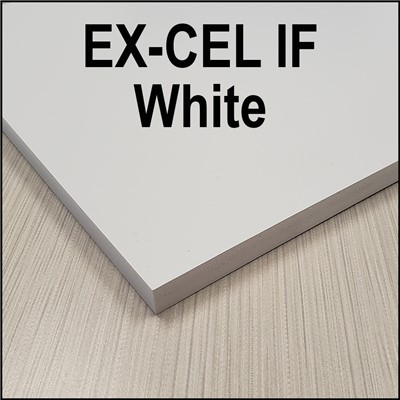 White EX-CEL PVC sheet 13mm 48x96