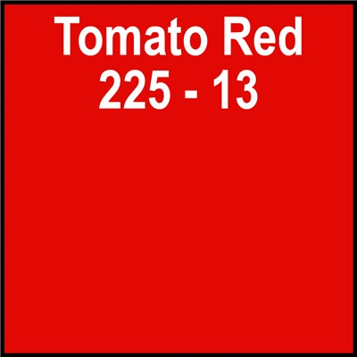15in 225-13 TOMATO RED Clear Back Gerber
