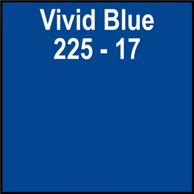 15in 225-17 VIVID BLUE Clear Back Gerber