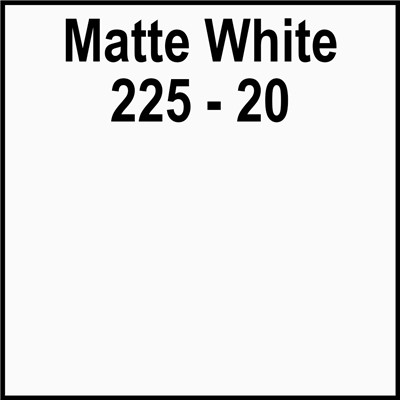 15in 225-20 MATTE WHITE Clear Back Gerbe