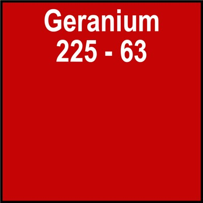 15in 225-63 GERANIUM Clear Back Gerber