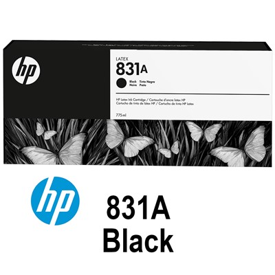 HP 831A 775ml BLACK Latex Ink for L300