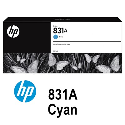 HP 831A 775ml CYAN Latex Ink for L300