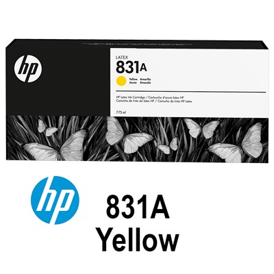 HP 831A 775ml YELLOW Latex Ink for L300