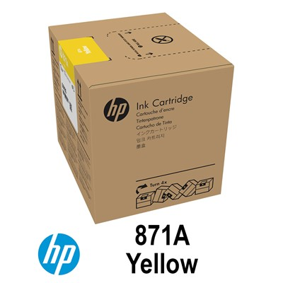 HP 871A 3L YELLOW Latex Ink for L370
