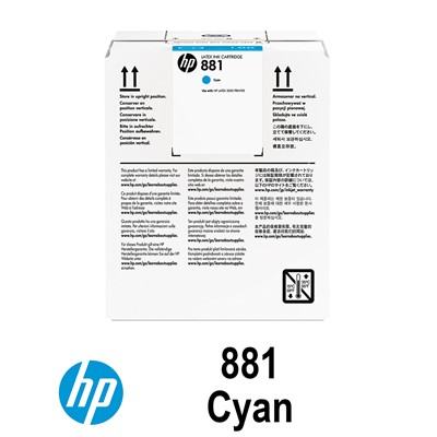 HP 881 5L CYAN INK CR331A