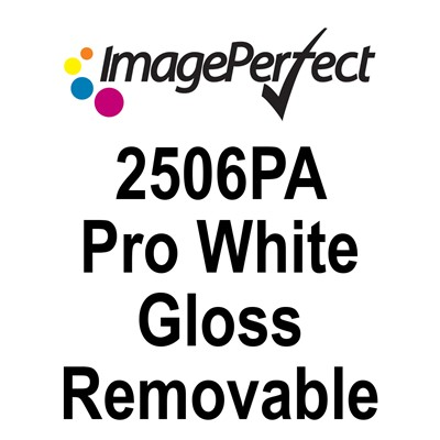 54in x54yd 2506PA Gloss White Removable
