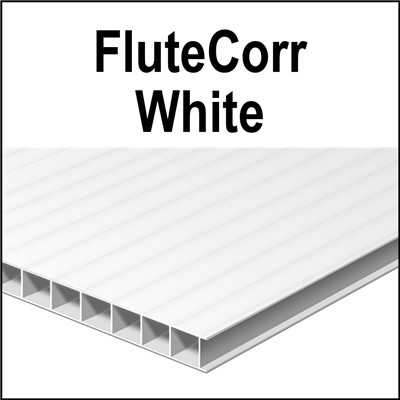 WHITE SQUARE CUT 48x96x4mm 96in flutes