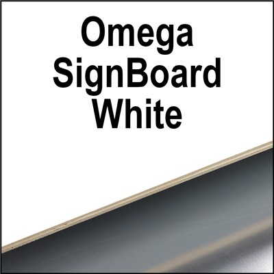 OMEGA BOARD 48 x 96 x 1/2 WHITE 1 SIDED