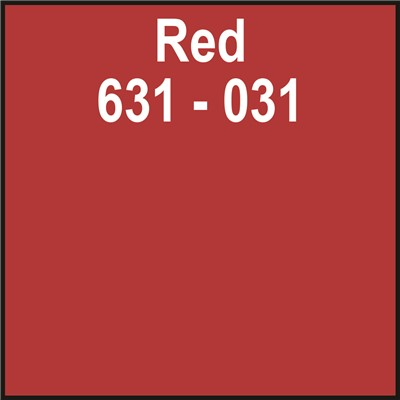 24in x 10yd 631-031 RED Unpunched