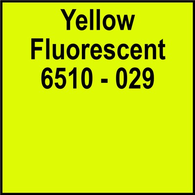 15in 6510-029 YELLOW FLUORESCENT Oracal