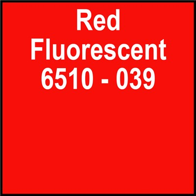 15in 6510-039 RED FLUORESCENT Oracal
