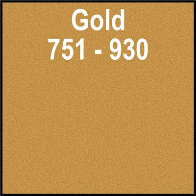 15in 751-930 NEW GOLD Oracal Punched