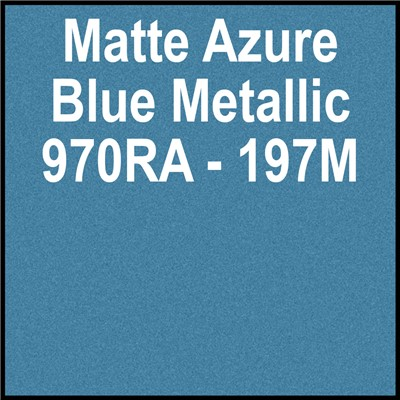 970RA-197M 60in MATTE AZURE BLUE METALIC