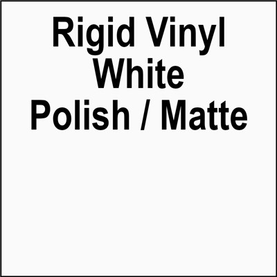 VINYL .020x21x51 WHITE POLISHED/MATTE