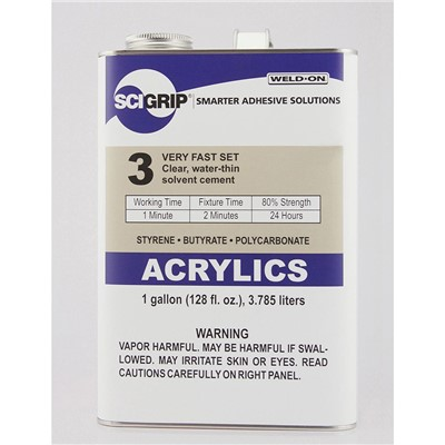 SciGrip 3 Water-thin Acrylic Cement Gal