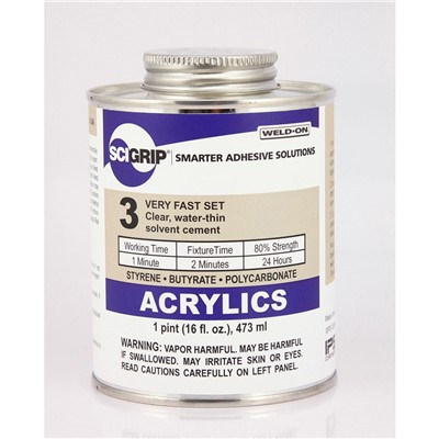 SciGrip 3 Water-thin Acrylic Cement Pint