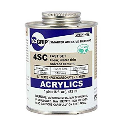 SciGrip 4SC Water-Thin Acrylic Cement Pt