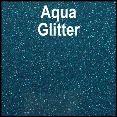 20in AQUA Glitter Heat Transfer