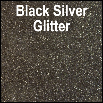 20in BLACK SILVER Glitter Heat Transfer