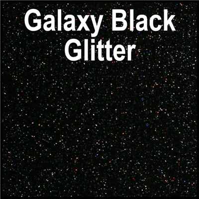 20in GALAXY BLACK Glitter Heat Transfer