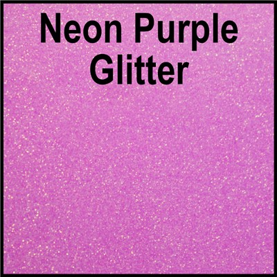 20in NEON PURPLE Glitter Heat Transfer