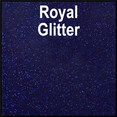 20in ROYAL BLUE Glitter Heat Transfer
