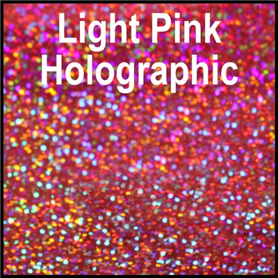 20in LIGHT PINK Holographic Heat Transfr