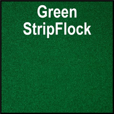 15in GREEN StripFlock Heat Transfer