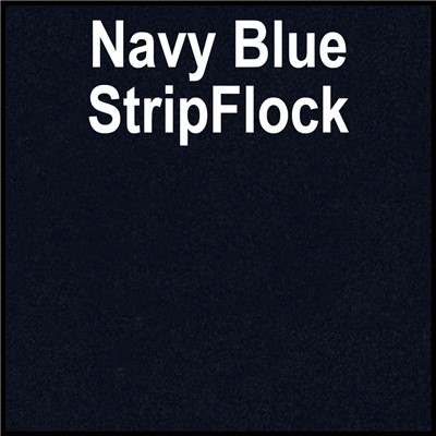 15in NAVY BLUE StripFlock Heat Transfer
