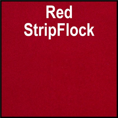 15in RED StripFlock Heat Transfer