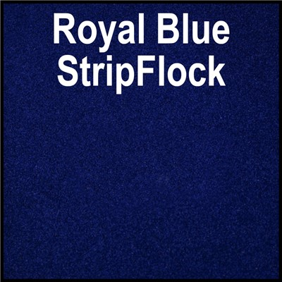 15in ROYAL BLUE StripFlock Heat Transfer
