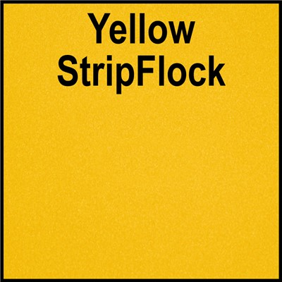 15in YELLOW StripFlock Heat Transfer